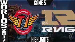 SKT vs RNG Highlights Game 5 - Semifinal World Championship 2017 SK Telecom T1 vs Royal G5