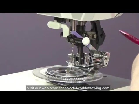 How To Attach the Flower Stitch Foot to Pfaff Sewing machines