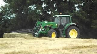 Haymaking 2015  Bales With John Deere 6830 