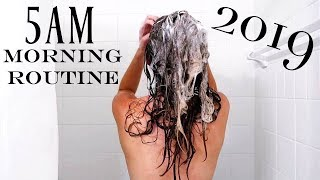 2019 5AM Optimal Morning Routine   NEW YEAR NEW ME   Productive & Healthy