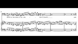 The people that walked in darkness (Messiah - G. F. Händel) Score Animation