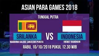 Live Streaming Perempat Final Badminton Tunggal Putra, Indonesia Vs Srilanka Asian Para Games 2018