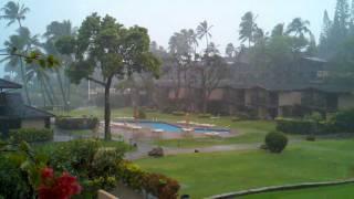 Downpour at Napili Kai Beach Resort