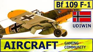 Bf 109 F-1 Самолеты Ранг 2 Германия Как стрелять? Как играть? Как летать?