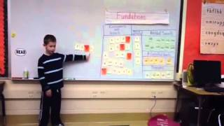 First grade Fundations lesson