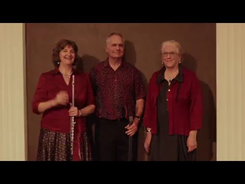 The BOOMER-RANG trio- video by Devin Creisler- Abby van Spronsen-flutist, vocalist, Jim Parfitt- bassist, Kaaren Moitoza pianist, vocalist