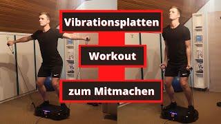 Vibrationsplatten Übungen: Komplettes Workout zum Mitmachen (für Anfänger und Fortgeschrittene)
