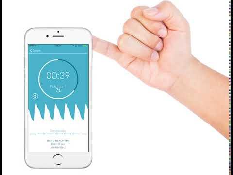 Mockup Anwendung der Preventicus Heartbeats App