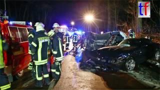 CRASH: VW Scirocco GTS vs BMW Z4 / Schwerer Unfall L1147 Schorndorf-Oberberken, 29.01.2017.