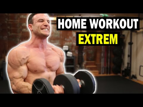 30 Minuten Ganzkörper Workout mit Hanteln | Muskelaufbau Extrem!
