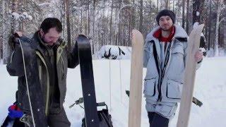 Ящик для зимний рыбалки с лыжами