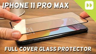 Olixar iPhone 11 Pro Max Full Cover Glass Screen Protector Installation and Review