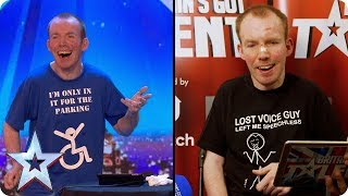 Lost Voice Guy reacts to his Audition | Britain's Got Talent - Video Youtube