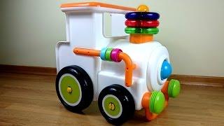 Развивающие игры для детей с игрушками - Собираем паровозик
