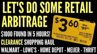Retail Arbitrage Finds - Buying and Selling Clearance from Walmart, Lowe's, Home Depot, Meijer