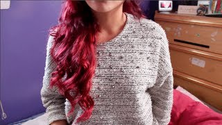 How I Dyed My Dark Hair Red WITHOUT Bleach | Loreal HiColor HiLights In Magenta (in HD!)