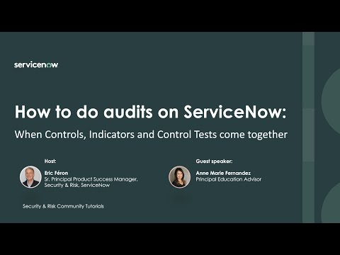 How to: Audits in ServiceNow. The example of SOX (with a link to a ...