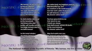 Estonia National Anthem with music, vocal and lyrics Estonian w/English Translation