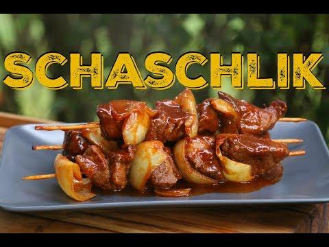 Imbissbuden Schaschlik vom Grill