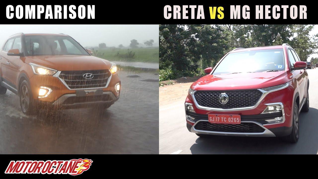 Motoroctane Youtube Video - MG Hector vs Hyundai Creta Comparison   Hindi   MotorOctane