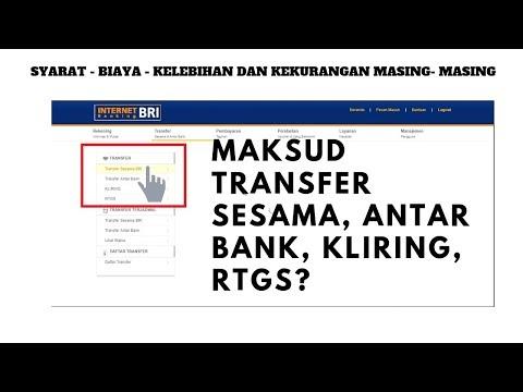 Ini Maksud Transfer Sesama, Transfer Antar Bank, RTGS dan Kliring LLG