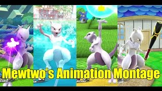 Mewtwo's Various Animations Montage & MUCH MORE (Super Smash Bros Wii U)