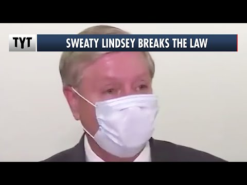 Lindsey Graham Breaks The Law While Begging For Money