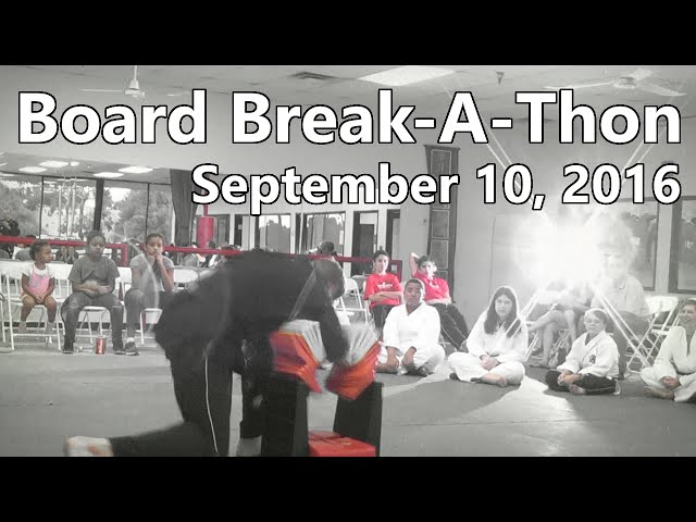 2016 Board Break-A-Thon