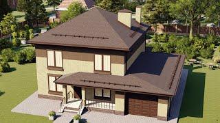Проект дома 160-C, Площадь дома: 160 м2, Размер дома:  13,1x13,7 м