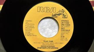 Tear Time , Dave & Sugar , 1978 Vinyl 45RPM
