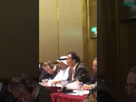 Senator A. Rehman Malik presiding a session at Doha Forum Qatar
