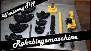 Rohrbiegemaschine | PIPE BENDER | Handbiegemaschine | Werkzeug Tipp | Cafe Racer Rahmen Biegen