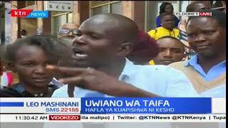 Waakazi wa kaunti ya Eldoret wataoa maoni kuhusiana na kuapishwa kwa Rais Uhuru Kenyatta