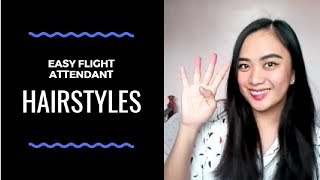 Easy Flight Attendant Hairstyles