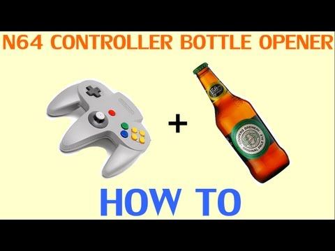 Open A Beer Bottle With An N64 Controller