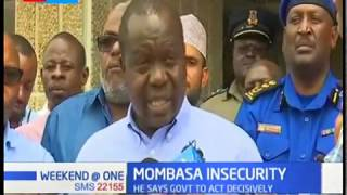 CS Fred Matiang'i blames insecurity in Mombasa on drugs