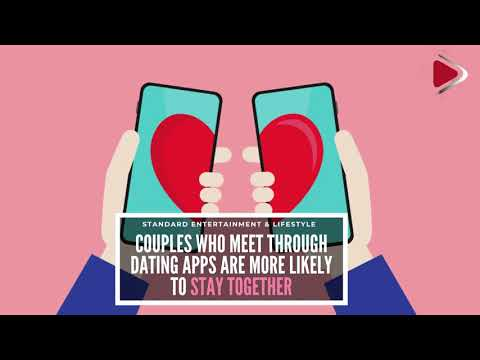 Couples who meet through dating apps are more likely to stay together