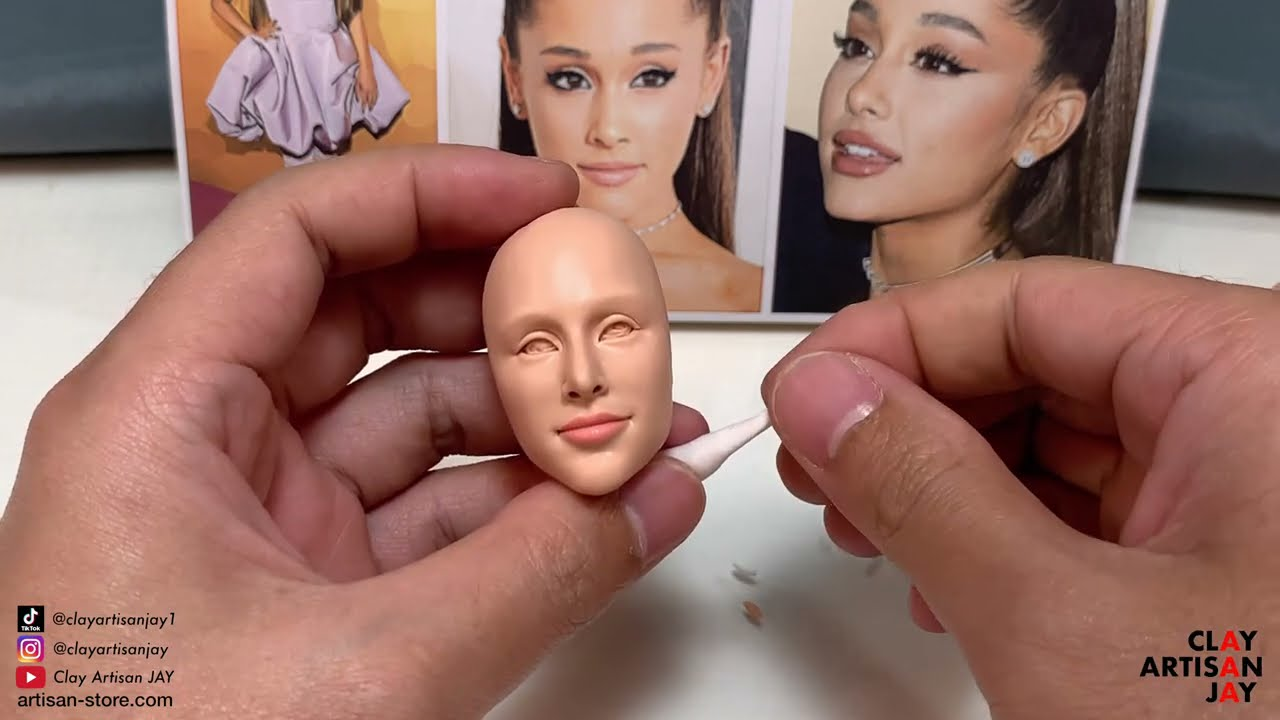 polymer clay sculpture ariana grande by clay artisan jay