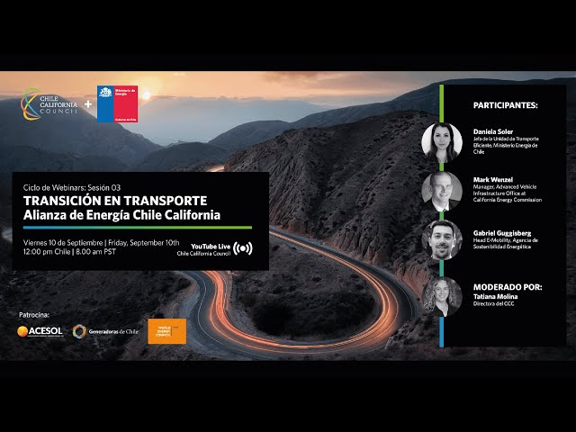 Webinar Alianza de Energía Chile California: Sesión 03