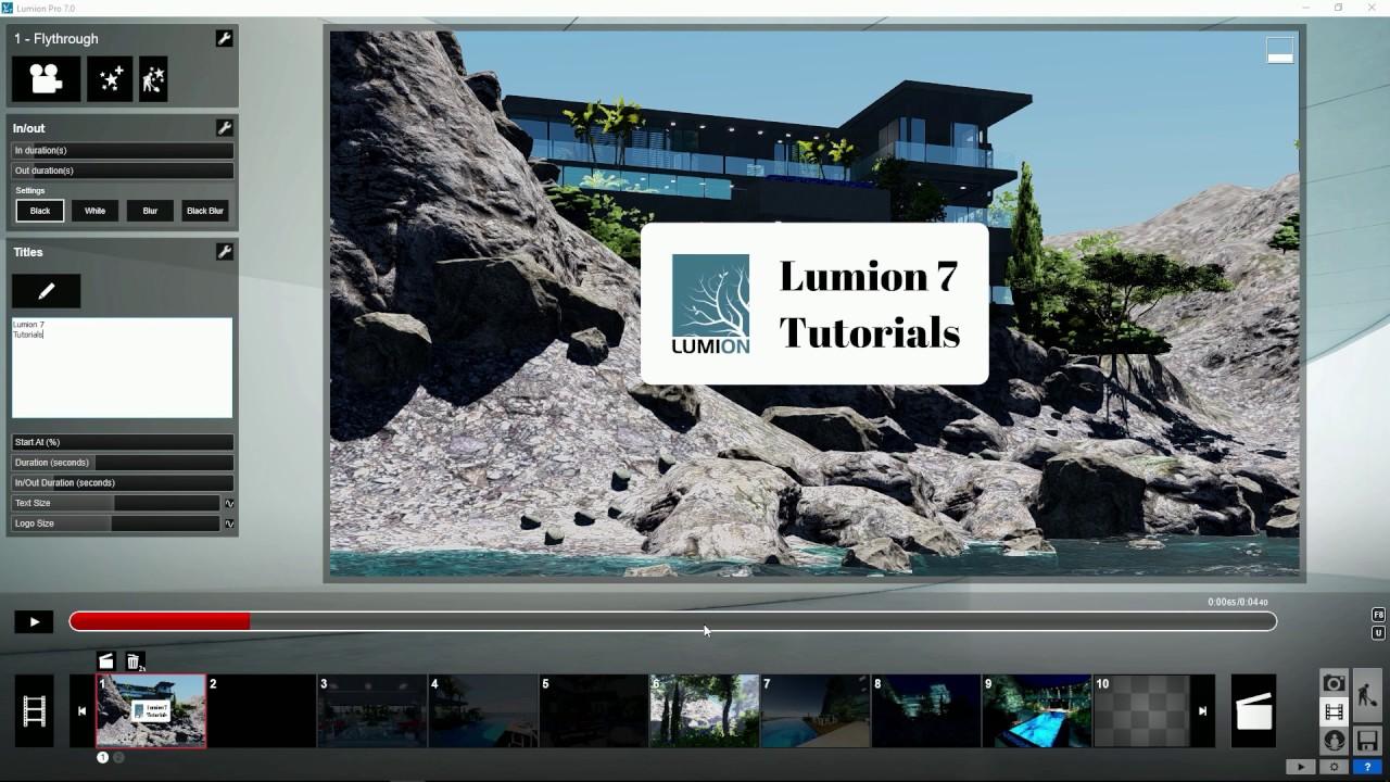 エフェクト:タイトルータイトルフォントの変更(Lumion7 series)