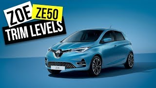 Renault Zoe ZE50 UK Specs GT Line / Iconic / Play