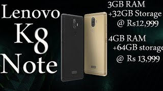 Download Lenovo K9 Note 2018 First Look Specs Design Price