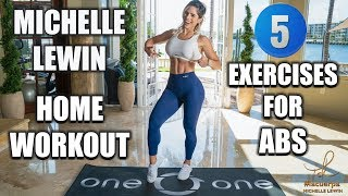 MICHELLE LEWIN: 5 Beginner Home Exercises For Abs (No Equipment Or Gym Needed)
