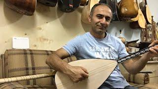 Önder Tolunay'a çok özel dut oyma Vede ardıç bağlama üretti Cengiz usta +905363471501