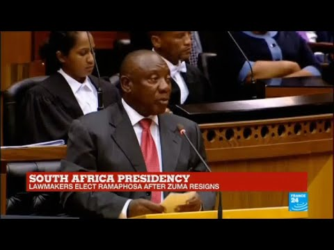South Africa: President-elect Cyril Ramaphosa speaks in Parliament