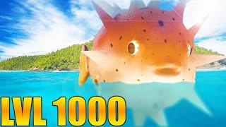 LVL 1000 TITAN PUFFERFISH/MAMAKA IS BIGGER THAN THE OCEAN - Feed And Grow Fish Gameplay