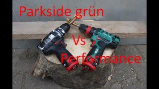 Parkside grün besser als Performance? 12V Akkuschrauber Performance vs Parkside PBSA 12 D2