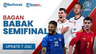 Update Bagan Semifinal Euro 2020: Italia akan Hadapi Pemenang Inggris vs Denmark di Laga Final