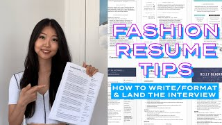 fashion resume tips: how to write & format 📝 impress the recruiter