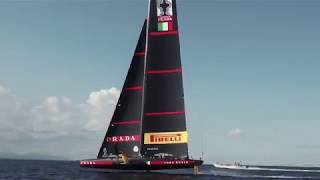 AC36: First (public) foiling video of the Challenger of Record's AC75 released today by Luna Ros